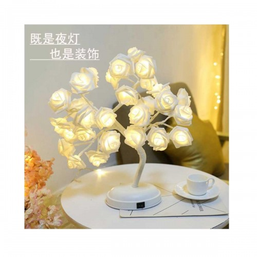 White rose design lampshade