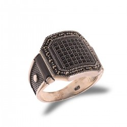 Silver Geweled Ring Atom