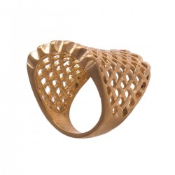 Wicker Matte Stainless Steel Ring