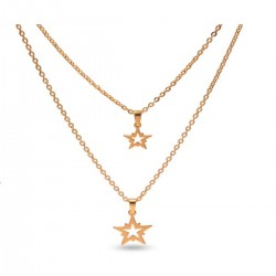 Layered Necklace Design Star
