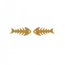 Earring Fish Bone