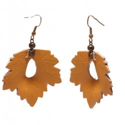 Leather Earrings Leaf