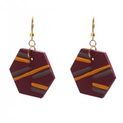 Wooden Earrings Hand 5