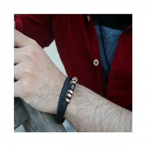Leather Wristband Code - 01