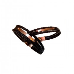 Leather Wristband Code - 02